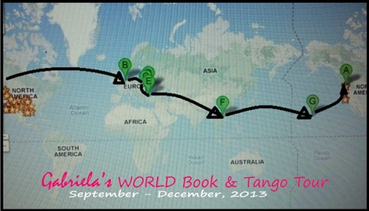 Gabriela's World Tour 2013 map